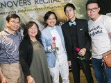 Pianovers Recital 2018, Teh Yuqing, his parents, Jonathan Lam, and friend