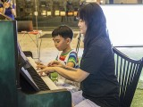 Pianovers Meetup #111, Corrine Ying, and Julian performing