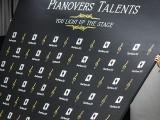 Pianovers Talents 2019, Sng Yong Meng, and Tan Phuay Ying Pauline setting up media wall