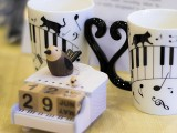 Pianovers Talents 2019, Piano themed music box, and mugs