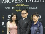 Pianovers Talents 2019, April Wong, Xavier Hui, and his grandmother
