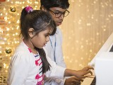 Pianovers Meetup #143, Suhith Ratchumari and Suhritha Ratchumari performing