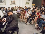 Pianovers Recital 2019, Jonathan Lam, and Teh Yuqing performing