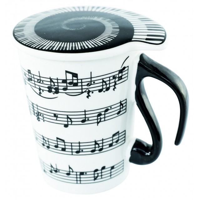 Musical Note Coffee Mug with Lid
