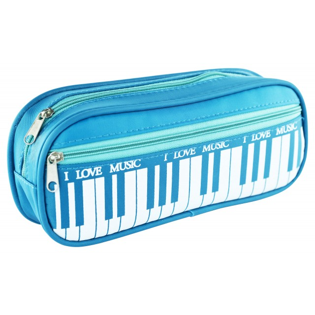 Square Pencil Bag (Blue)