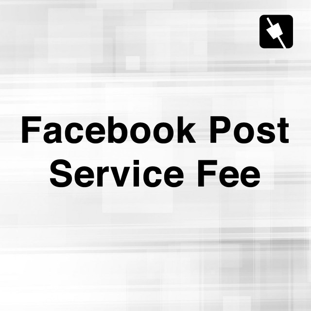 Facebook Post Service Fee