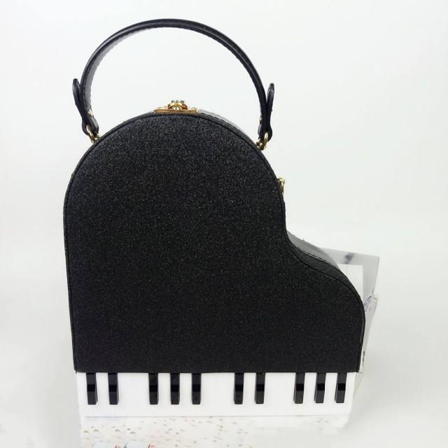 Piano Shaped Shoulder Bag
