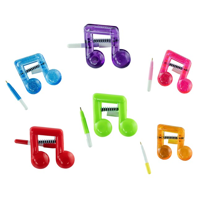 Plastic Music Shaped Clip with Pen