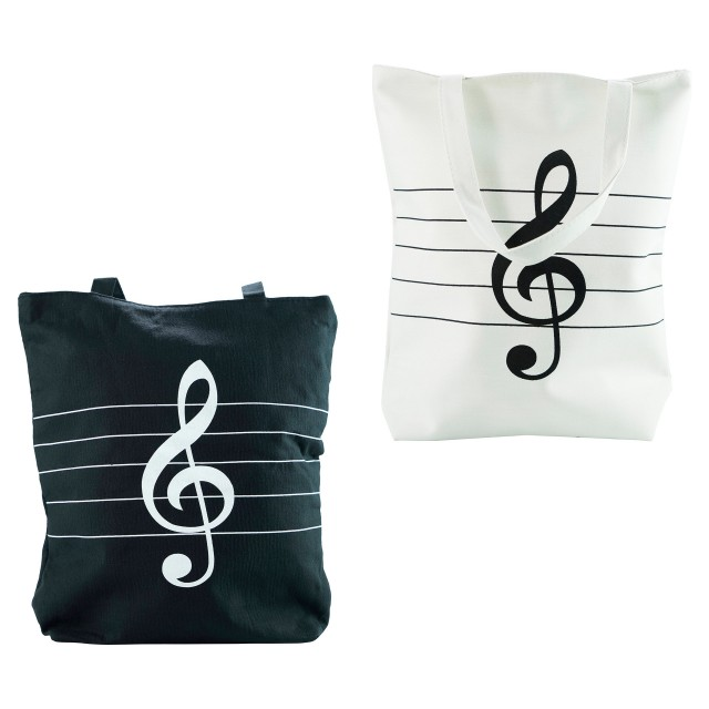 Treble Clef Printed Canvas Bag