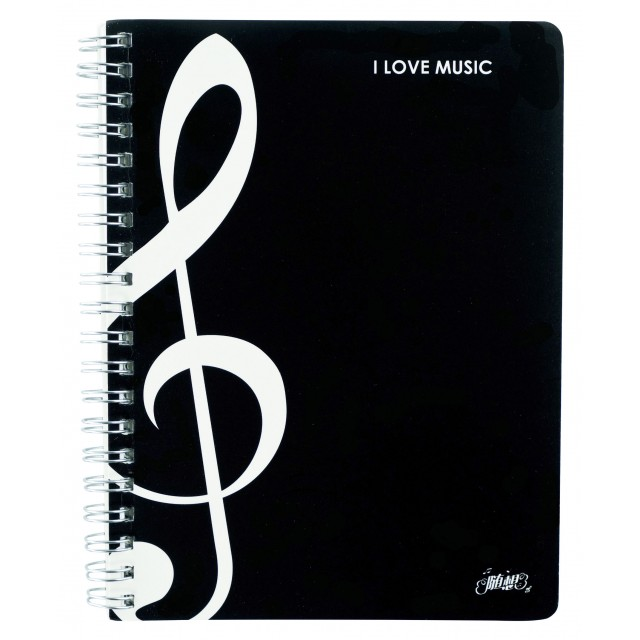 Treble Clef Soft Covers Notebook
