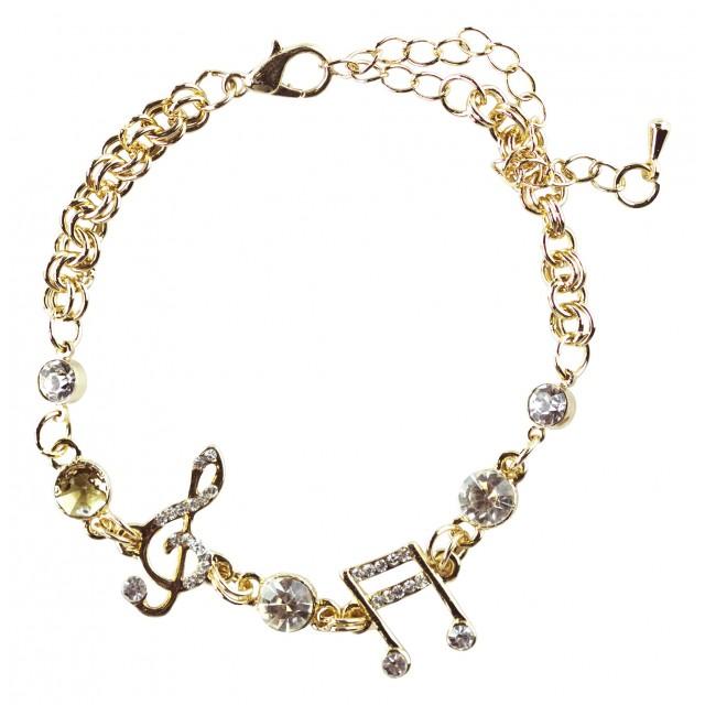 Music Note Bracelet - Rose Gold