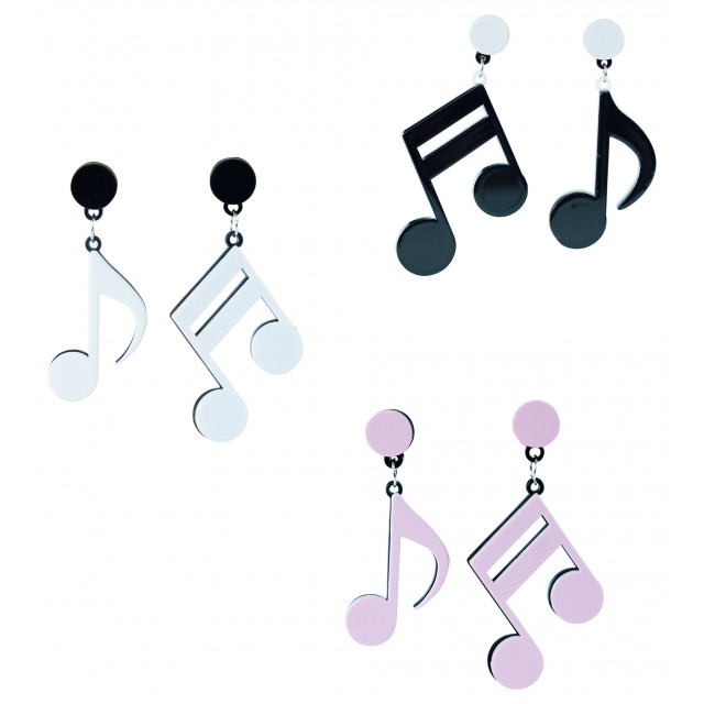 Retro Music Note Earrings