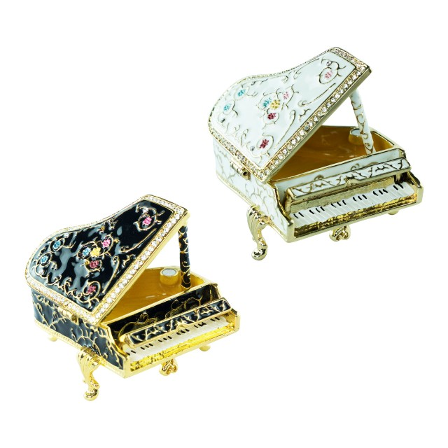 Jewellery Box Vintage Piano Shaped