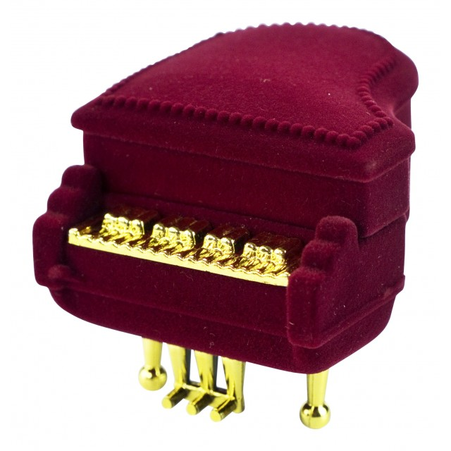 Piano Ring Shaped Box Earring Pendant Necklace Jewellery