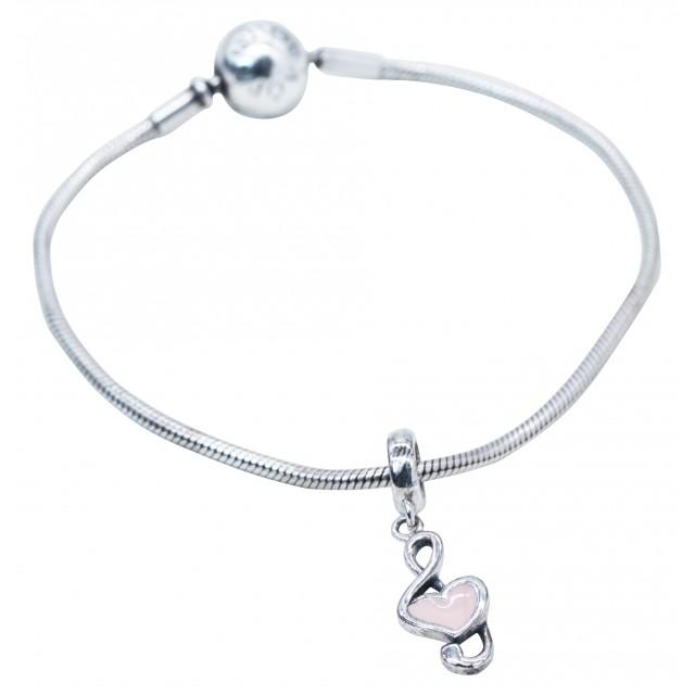 Treble Clef Heart Pandora Charm