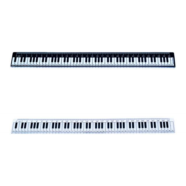 Piano Keyboard printed Plastic Ruler