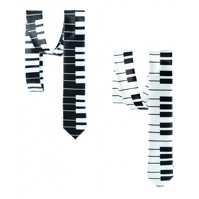 Classic White Black Neck Tie