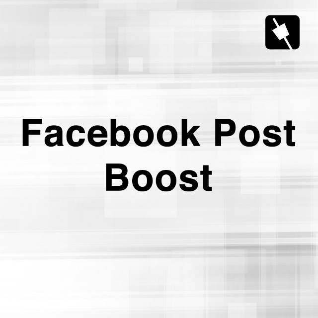 Facebook Post Boost