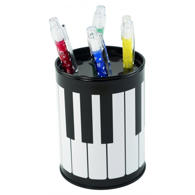 Round Piano Pen Holder