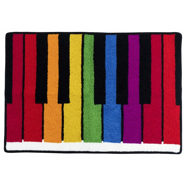 Colourful Piano Keyboard Floor Mat