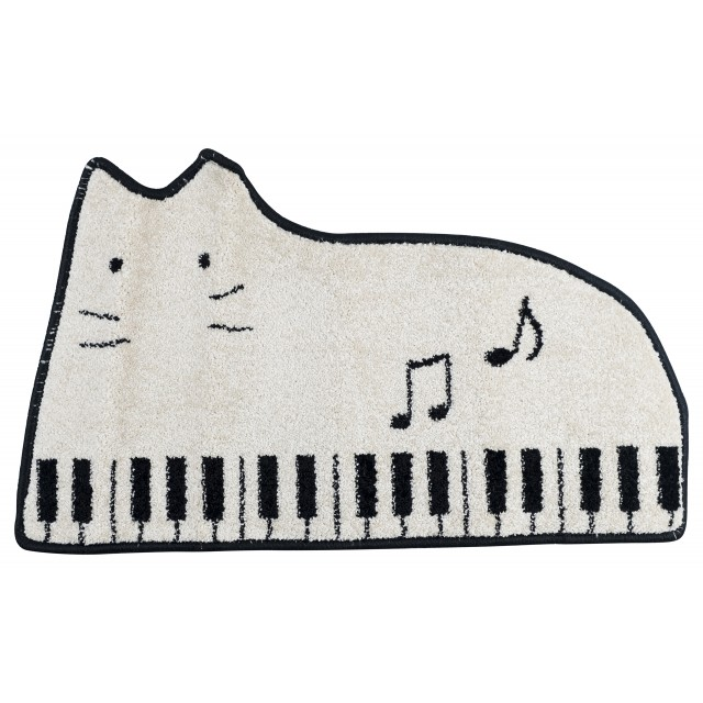 Piano Cat Shaped Floor Mat