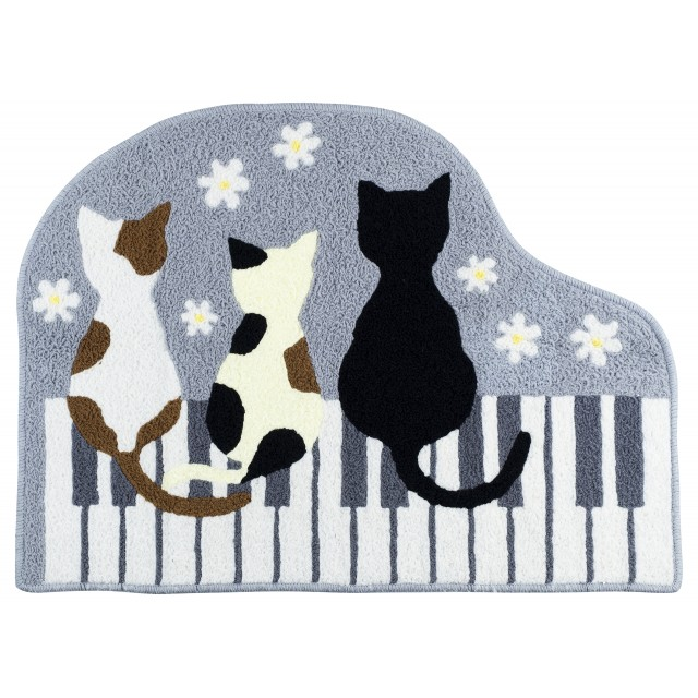 Piano Cat Floor Mat