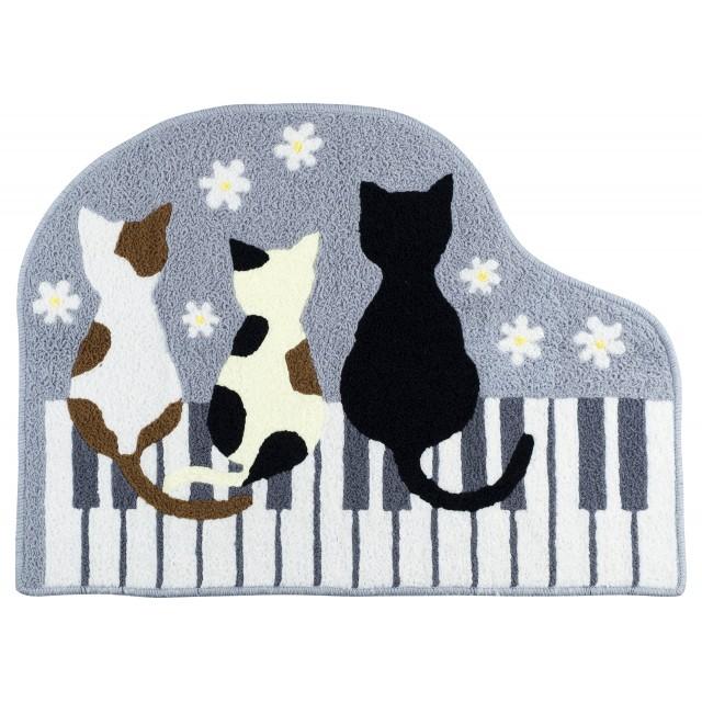 Piano Cat Floor Mat