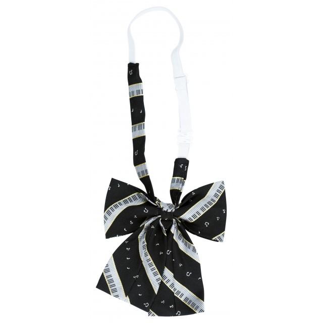Black Piano Bow Tie