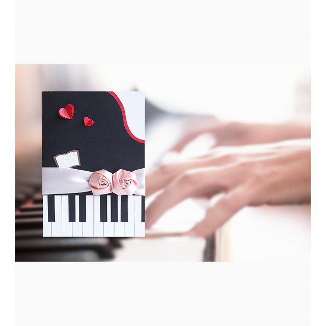Piano-Shaped Card