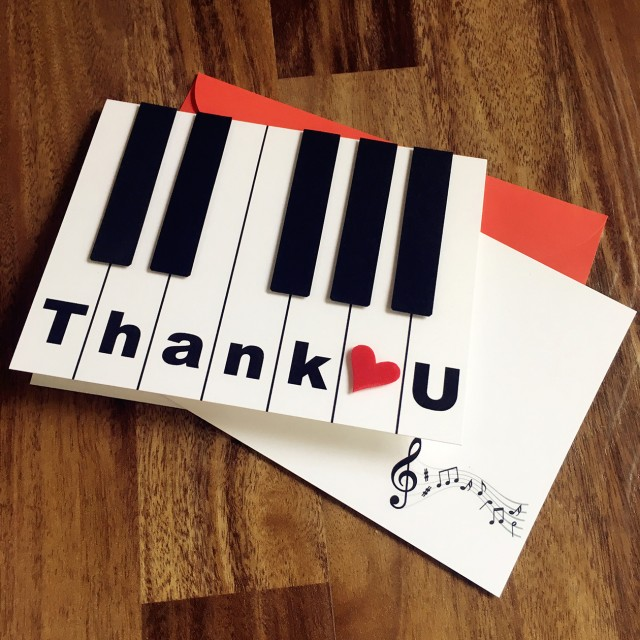 Piano Thank U Card