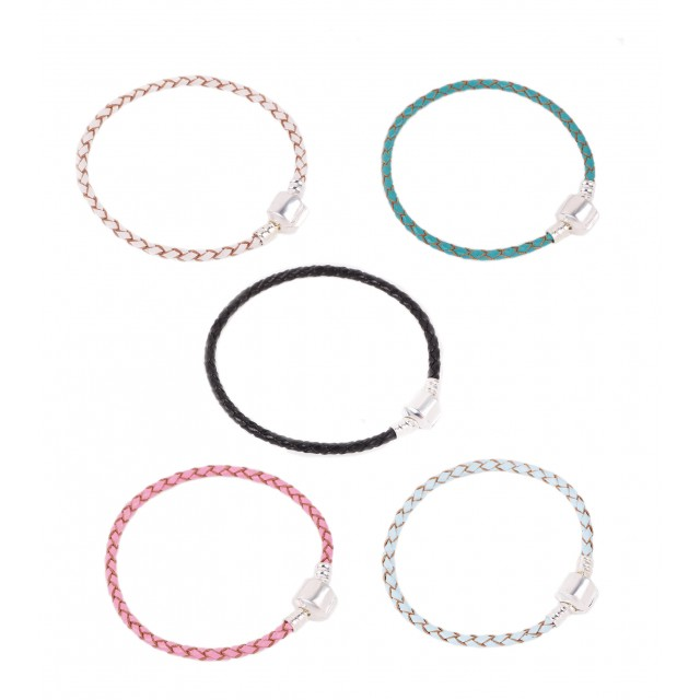 Rope Chain Leather Bracelet