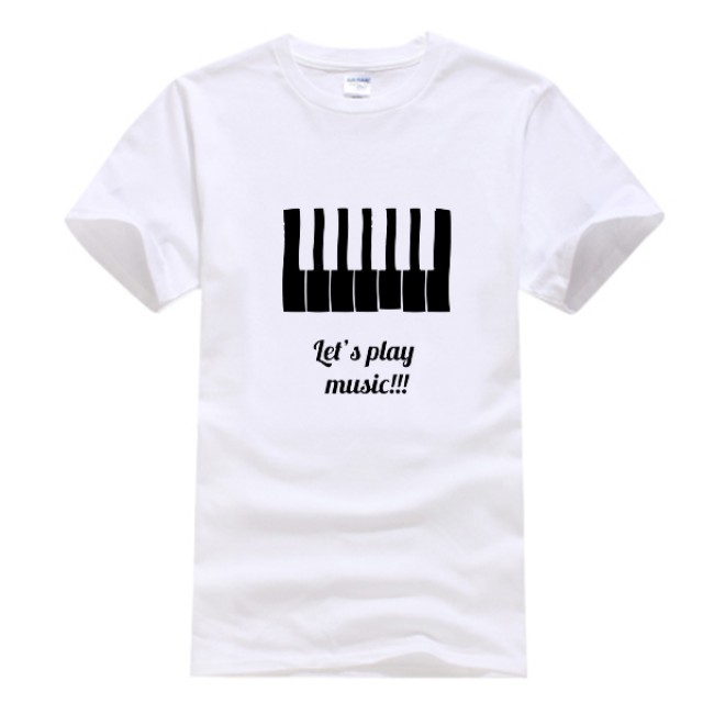 Piano Keyboard Cotton T-Shirt