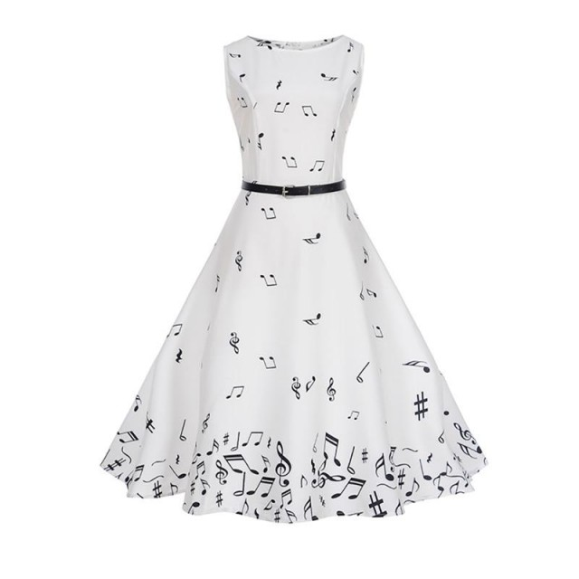 Music Notes Retro Dress
