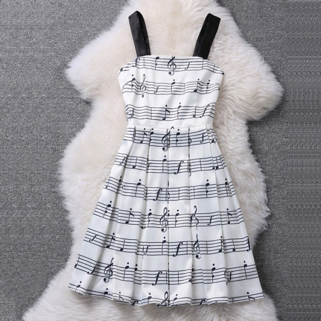 Music Note Melody Dress