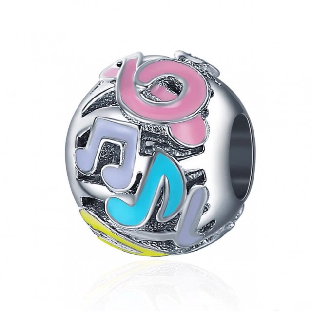 Colourful Musical Note Charm
