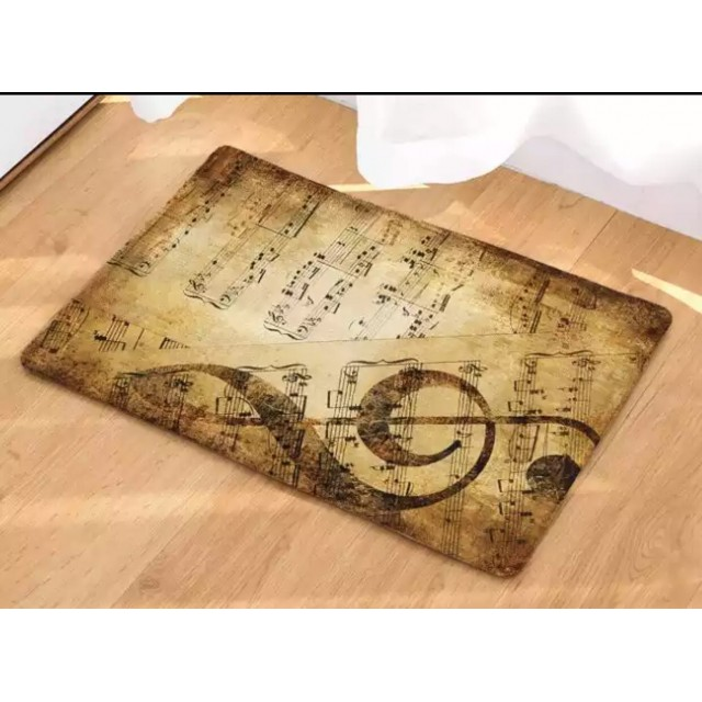 Music Treble Clef Floor Mat