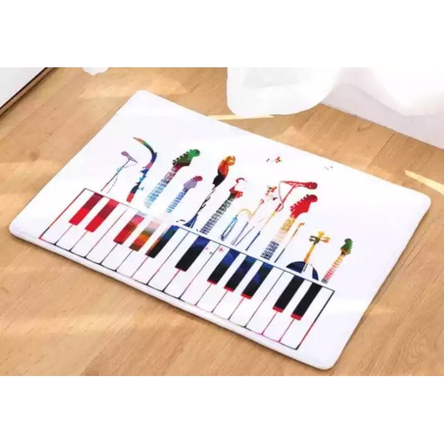 Music Piano Keys Floor Mat