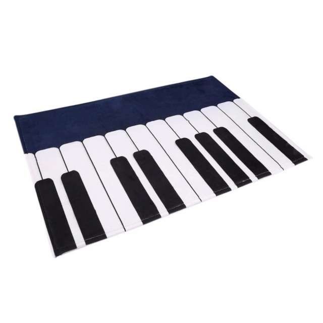 Blue Piano Keys Floor Mat
