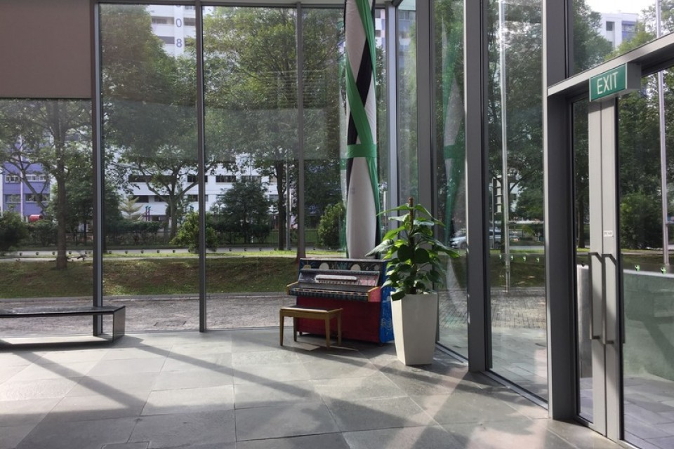 Upright Piano in TRCC outside the theatre