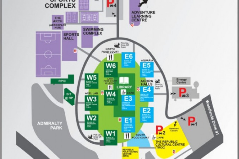 Republic Polytechnic Campus Map