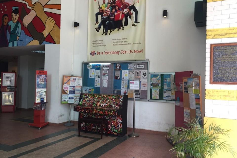 Upright Piano at Kaki Bukit Community Centre