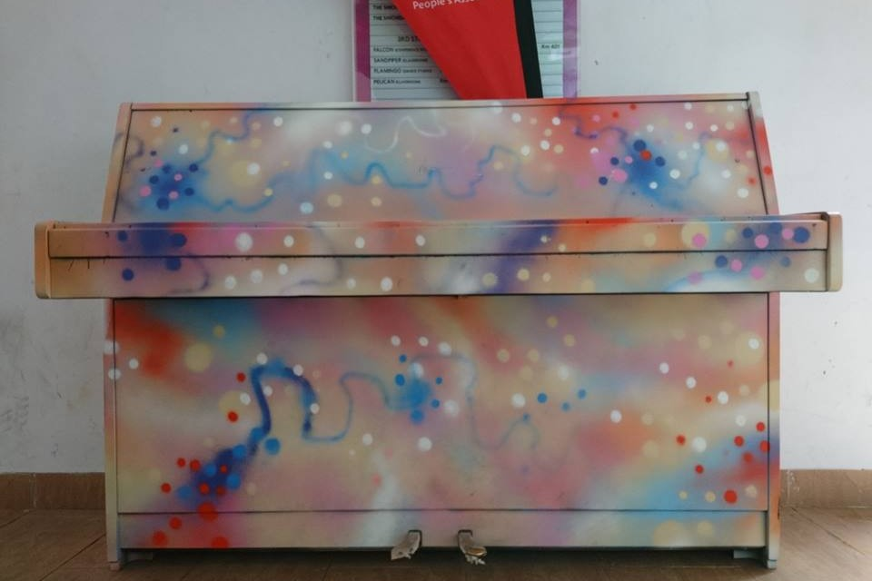 One of the two Upright Pianos
