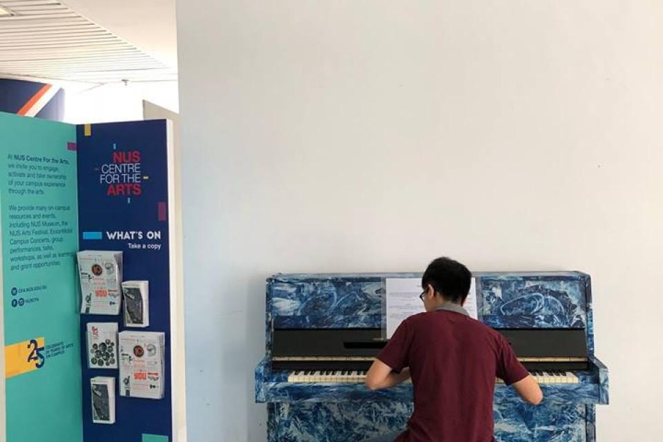 Upright Piano at NUS Yong Loo Lin School of Medicine
