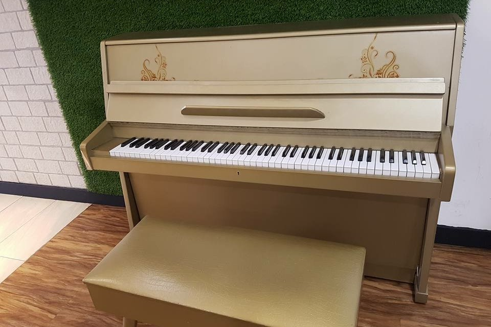 Upright piano at Silverace