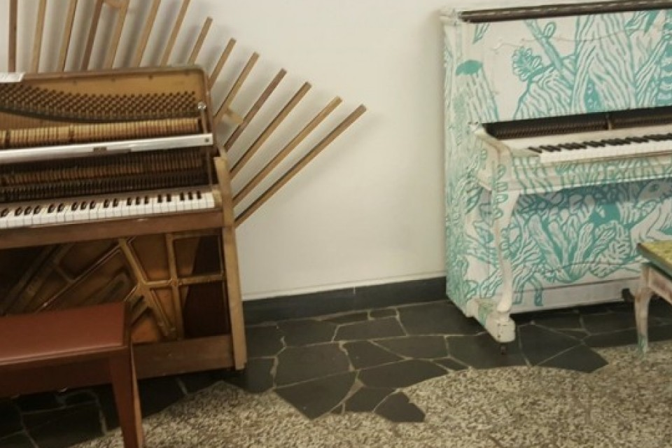 The 2 upright pianos at NUS
