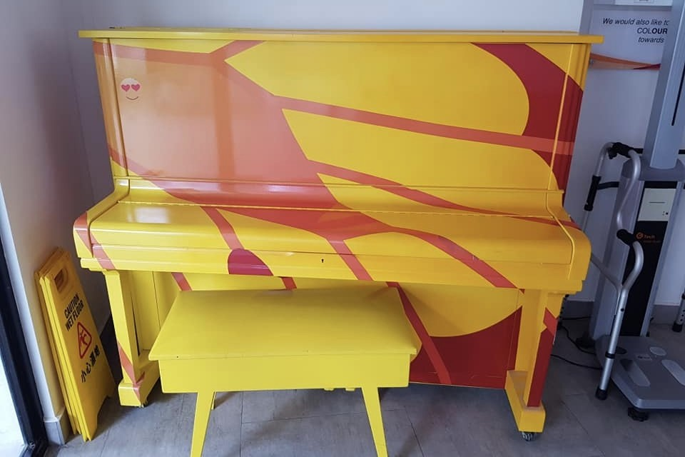 Upright Piano at SilverCOVE Marsiling