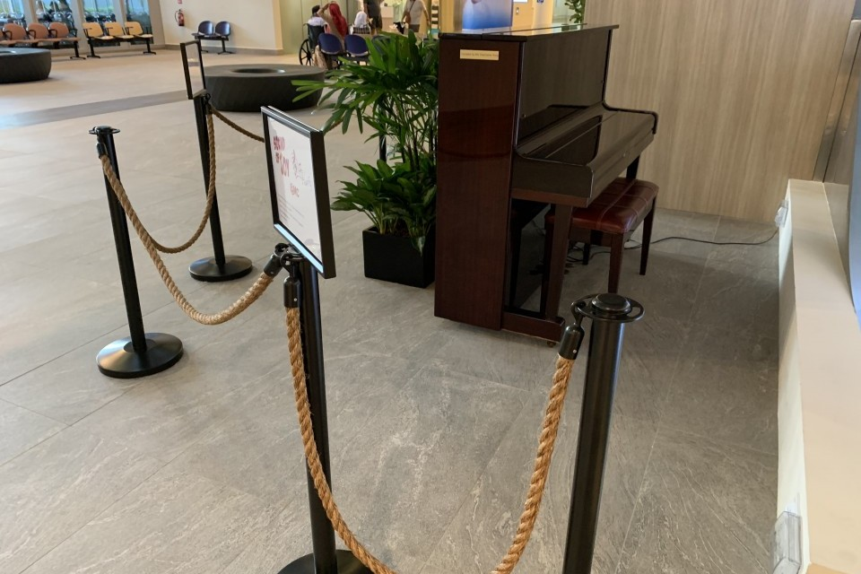 Upright piano at CGH Medical Centre