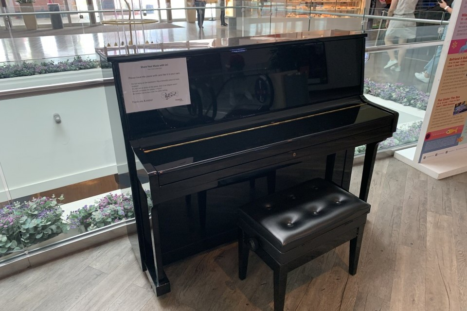 Upright piano @ Changi City Point