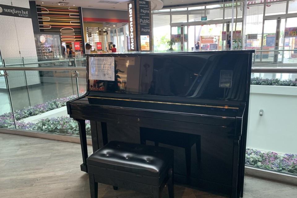 Upright piano @ Changi City Point