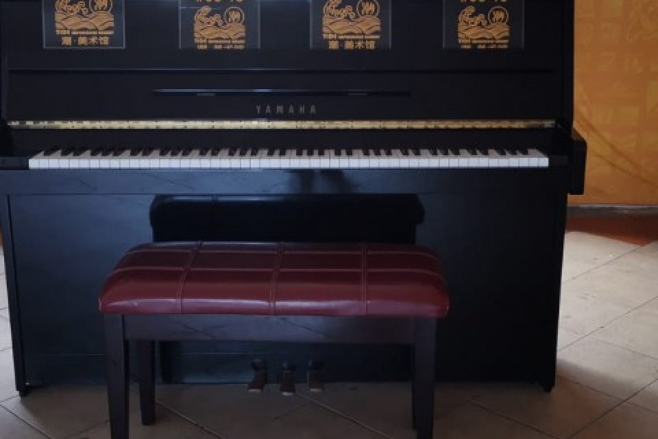 Upright Piano at Bras Basah Complex outside #03-15